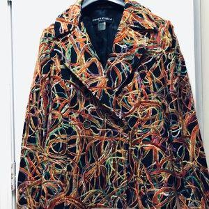 Womens multi color blazer/jacket. By: Nygard.